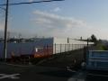 191231船橋川の三角公園も新名神工事の為閉鎖