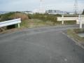 200125堤防沿いの道が途切れる
