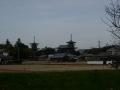 200125薬師寺東塔の覆いが取れていた