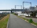 200307観月橋から宇治川の堤防へ