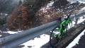 191207路肩や道の周辺にも雪が残る