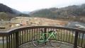 191221笠置大橋から河川敷のキャンプ場を見下ろす