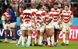 RWC3勝目を喜ぶ日本