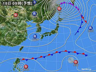11月15日(金)9時の予想天気図