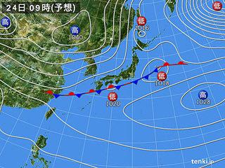 1月24日(金)9時の予想天気図