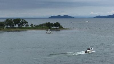 海の日の3連休中日の琵琶湖(YouTubeムービー)