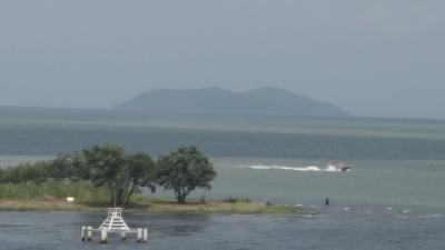 台風10号通過後の琵琶湖(YouTubeムービー)