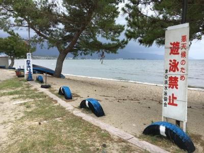 遊泳禁止の真野浜水泳場