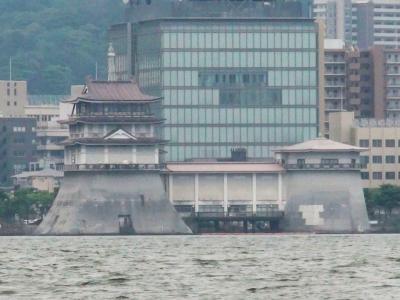 特徴的な姿がランドマークの一つになってる旧琵琶湖文化館