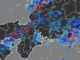 雨雲の様子(8月30日10時0分)