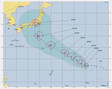 JTWC熱帯的暑進路予想