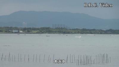 敬老の日の琵琶湖南湖(YouTubeムービー)