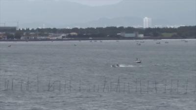 台風17号接近中の琵琶湖(YouTubeムービー)