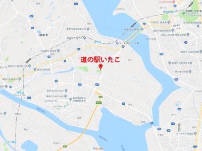 道の駅いたこ 位置図