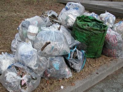 クリーンアップ琵琶湖 in 南浜漁港で回収したゴミ(06/11/16)