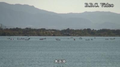 文化の日の3連休初日の琵琶湖(YouTubeムービー)