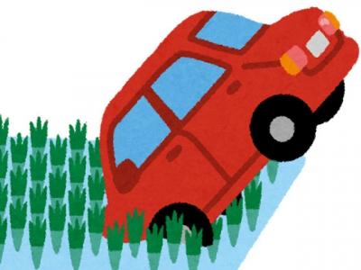 自動車転落事故(いらすとや)