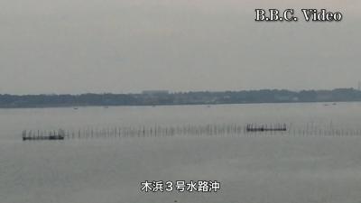 曇天微風の琵琶湖 木浜沖3号水路沖はボートが6隻だけかな・・・!?(YouTubeムービー)