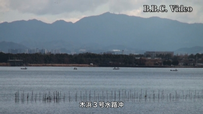風が止んで穏やかになった琵琶湖 年末休みの初日はガラ空き(YouTubeムービー)