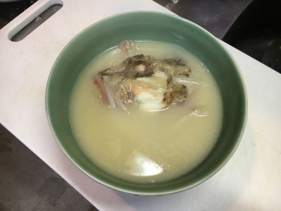 イズカサゴの味噌汁