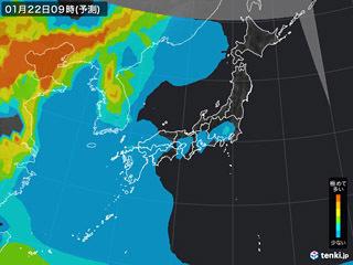 PM2.5分布予測(1月22日9時)