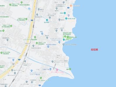 坂本城本丸跡と城趾公園