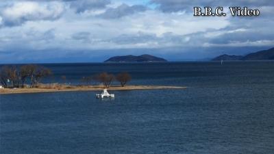 天候回復したら強い西風!! 平日はガラ空きの琵琶湖(YouTubeムービー)