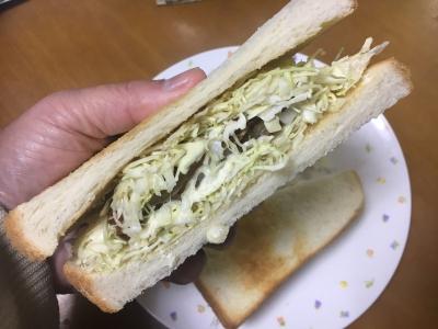 アジフライのサンドイッチ