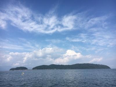 いい天気になった琵琶湖北湖(10月27日11時20分頃)
