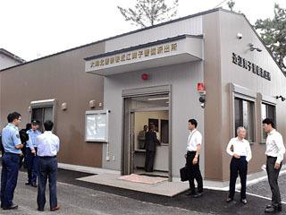 新しく建てかえられた近江舞子警備派出所