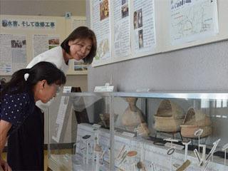 守山市立埋蔵文化財センターで開催中の展示会「野洲川流域の歴史と文化のひとこま」