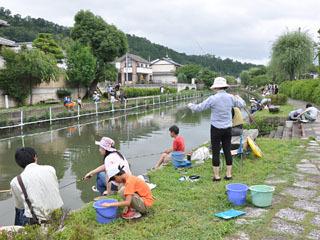 海の日の7月15日(月祝)に開催された第18回八幡堀さかな釣り大会