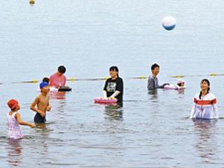 7月20日にオープンした彦根松原水泳場