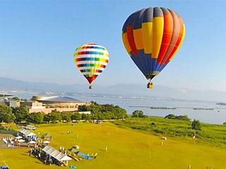 烏丸半島の熱気球フライト体験