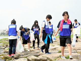 由美浜で開催さら多「スポGOMI甲子園」