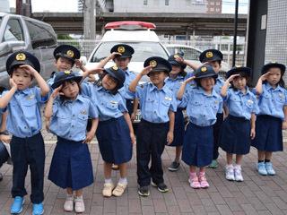 草津市のイベントに参加したたちばな大路子ども園の園児