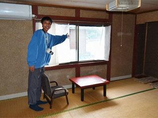 沖島の民泊「湖心」の宿泊室