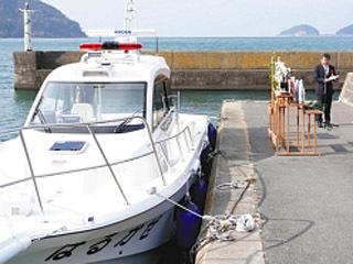 4月から運用が始まる新消防救急艇「はるかぜ」