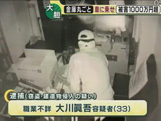 金製のリール4個 計520万円相当盗難