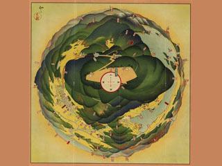 叡山頂上一目八方鳥瞰図