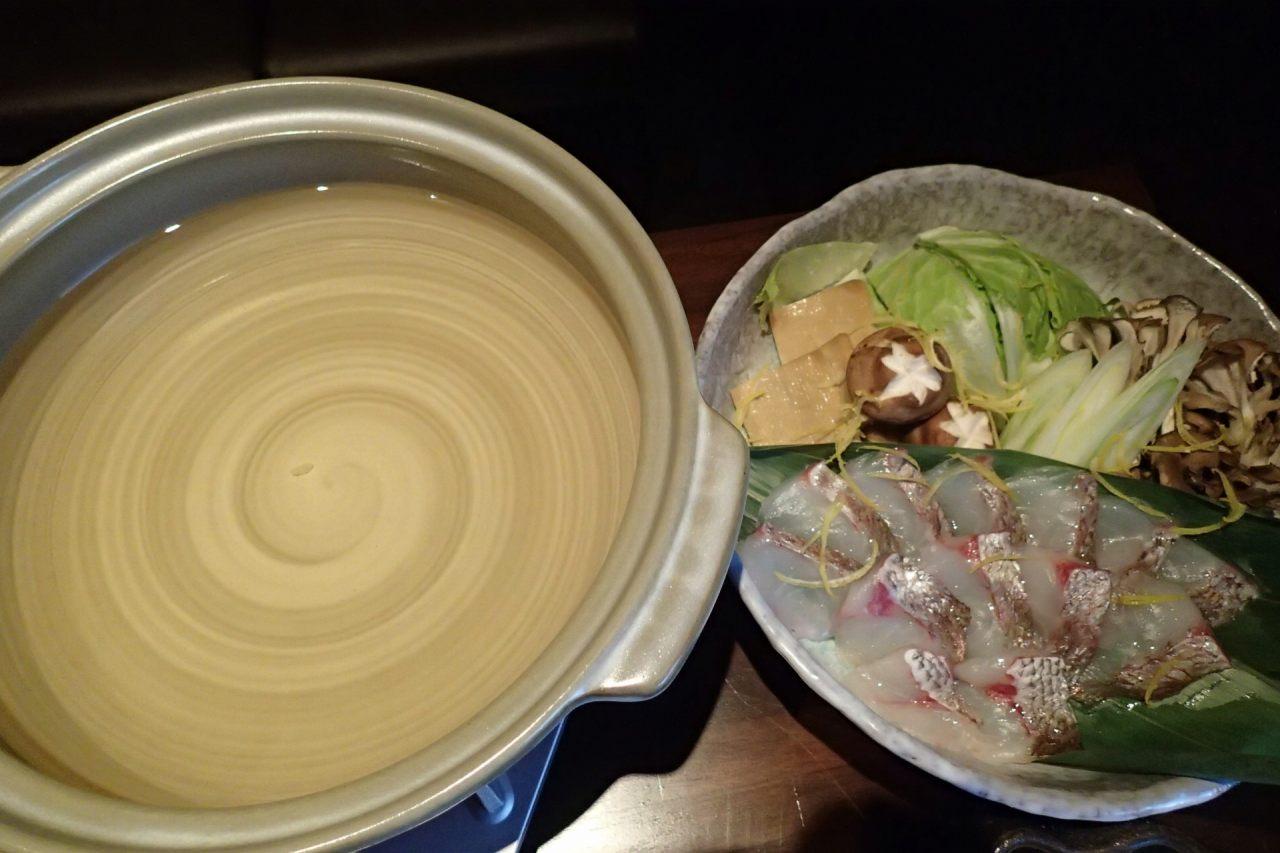 鯛しゃぶ鍋