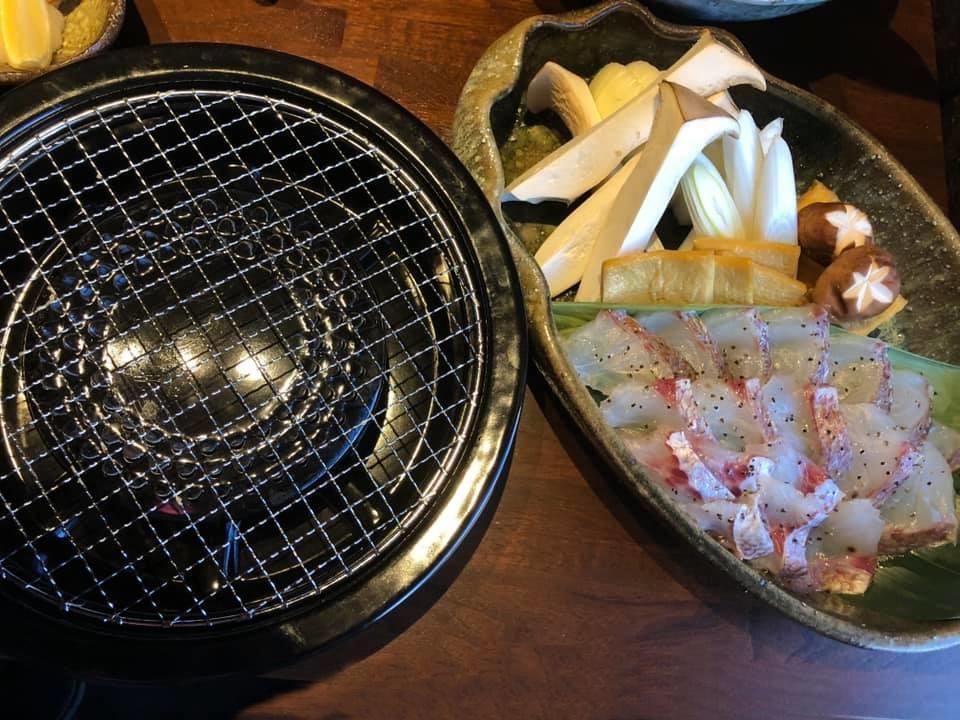鯛の焼きしゃぶ
