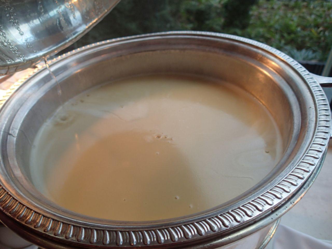なめらかなサツマイモのクリームスープ