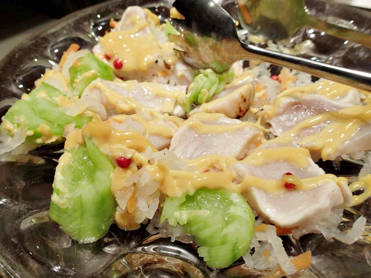 酢締め魚黄身酢かけ