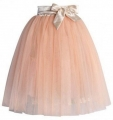 Amore Tulle Midi Skirt in Ice Orange1111