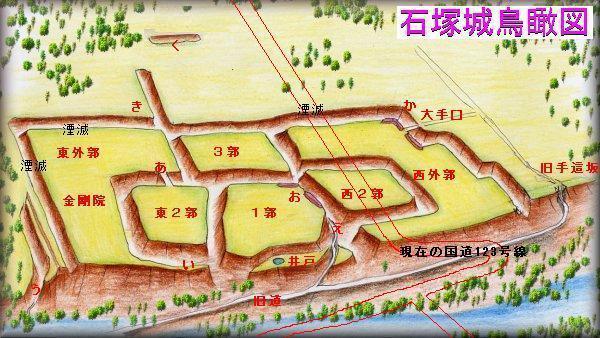 石塚城址縄張り図
