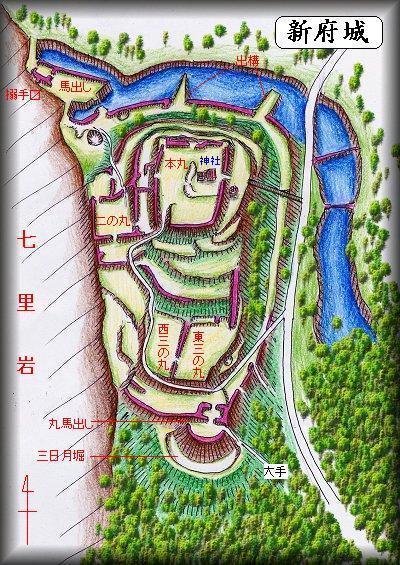 新府城縄張り図