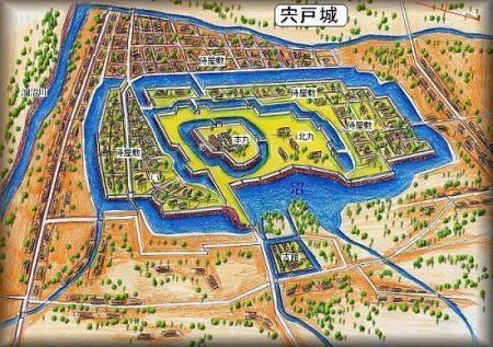 宍戸城址縄張り図15