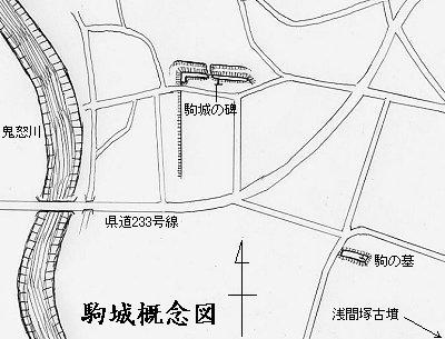 駒城址縄張り図