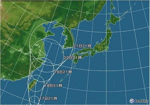 5号台風進路